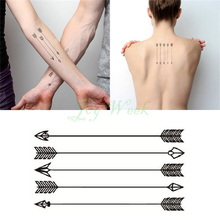Temporary arrow transfer fake tattoo flash girl sticker water waterproof men
