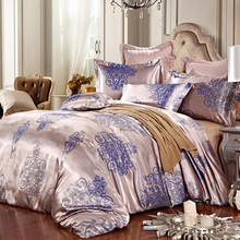 Фотография Luxury bedding sets satin jacquard bed set pure cotton European style quilt bed sheet duvet cover bedspread queen/king size 4pcs