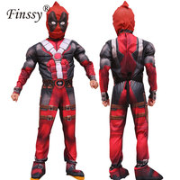 New Arrival Deluxe Boys Marvel Anti Hero Deadpool Children Muscle Movie Halloween Carnival Party Cosplay Costume