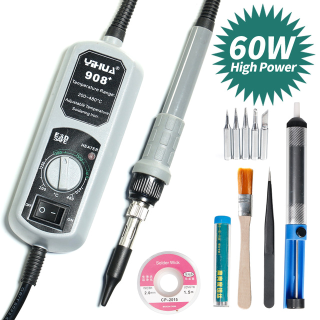 YIHUA 908+ Adjustable Soldering Iron Kit Constant Electric Soldering Iron Large Power