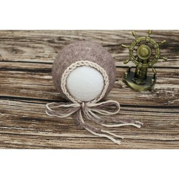 Mohair Lace Bonnet Baby Girl Bonnet for Photography Props Floral Newborn Bonnet Newborn Boy Hat Pattern фото