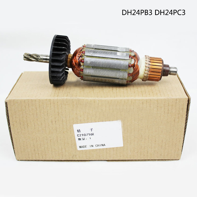 Free shipping! AC220-240V 5 Teeth Drive Shaft Electric hammer drill rotor for Hitachi DH24PB3 DH24PC3 DH24PM C210716E