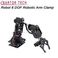 רובוט 6 DOF מכאנית זרוע רובוטית ערכת הזרוע קלאמפ Claw הר MG996R/Servos צופר סרוו DS3115 לarduino רובוט DIY אלומיניום חלקי