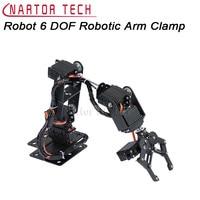 Robot 6 DOF Arm Mechanical Robotic Arm Clamp Claw Mount Kit MG996R/DS3115 Servos Horn For Arduino DIY Robot Parts Aluminium