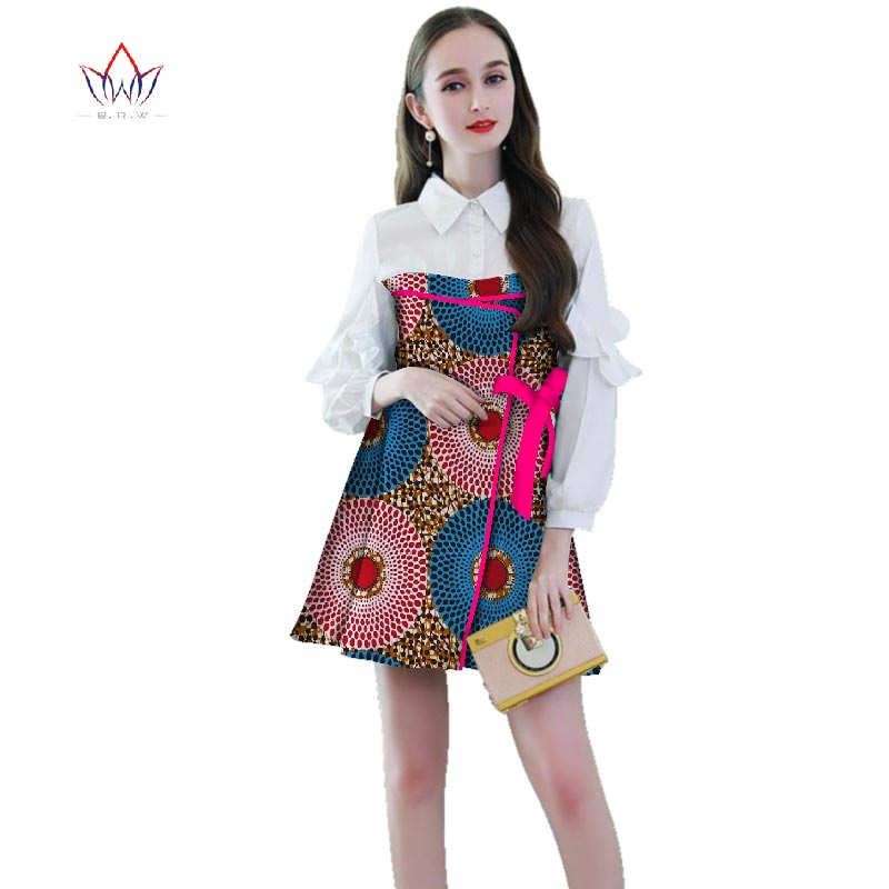african dresses for women Dashiki full sleeve Print cotton Dress traditional african cloth Africa Dress for Women natural WY2661