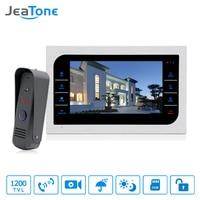 JeaTone 10 inch TFT LCD Door Intercom Video Doorbell System with Camera 2.8mm Lens 1200TVL 1V1 Door Access Control Waterproof