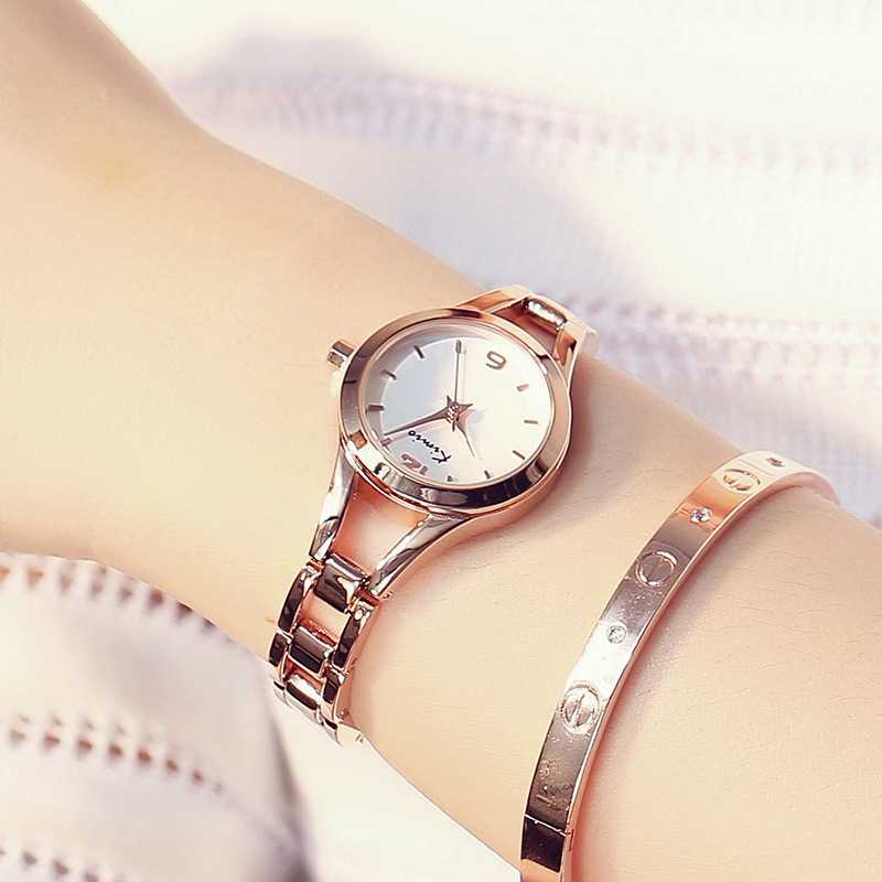 KIMIO Ladies Simple Small Round Dial Rose Gold Skeleton Bracelet Womens Watches 2018 Top Brand Casual Quartz Watch Waches Women kimio brand bracelet watches women reloj mujer luxury rose gold business casual ladies digital dial clock quartz wristwatch hot page 2