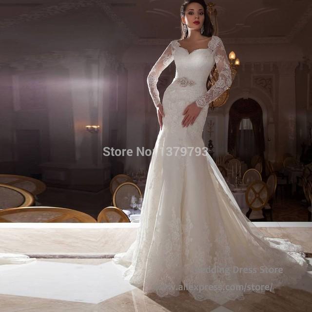 vestido de casamento 2015 vintage nupcial del cordón del vestido de