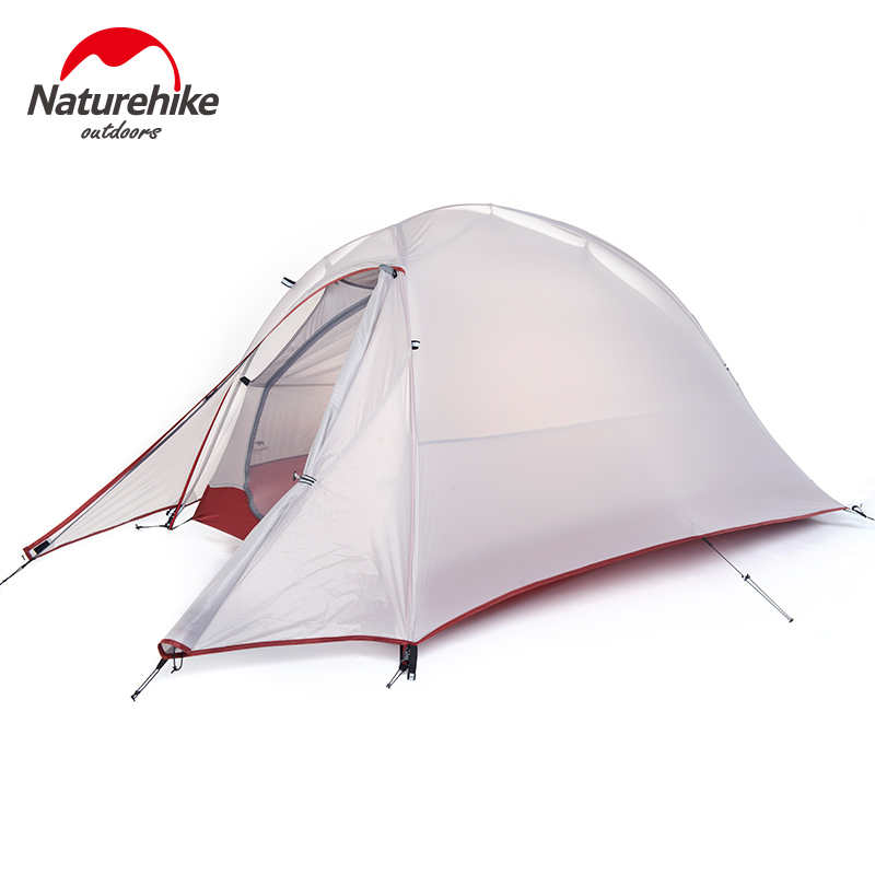 NatureHike Single tents 1 Person travel riding Camping Tent Outdoor Ultralight Silicone tents Waterproof Double layer hiking mobi outdoor camping equipment hiking waterproof tents high quality wigwam double layer big camping tent