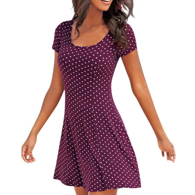 Polka Dot Printed Summer Dress (3 Colors)