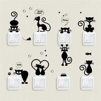 Leuke schakelaar kattenstickers