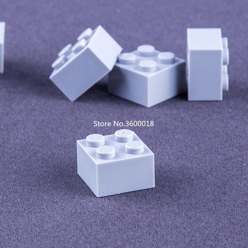 Lego Brick 2 x 2 Part No 3003 Light Bluish Grey x 15