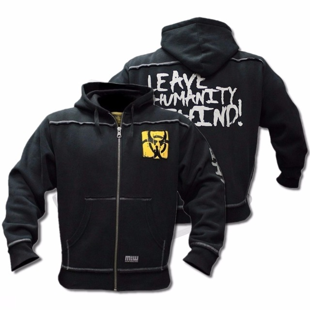 Mutant зима фитнес для мужчин тренажерные залы толстовки Толстовка для бодибилдинга молния повседневное Slim Fit Куртка с капюшоном