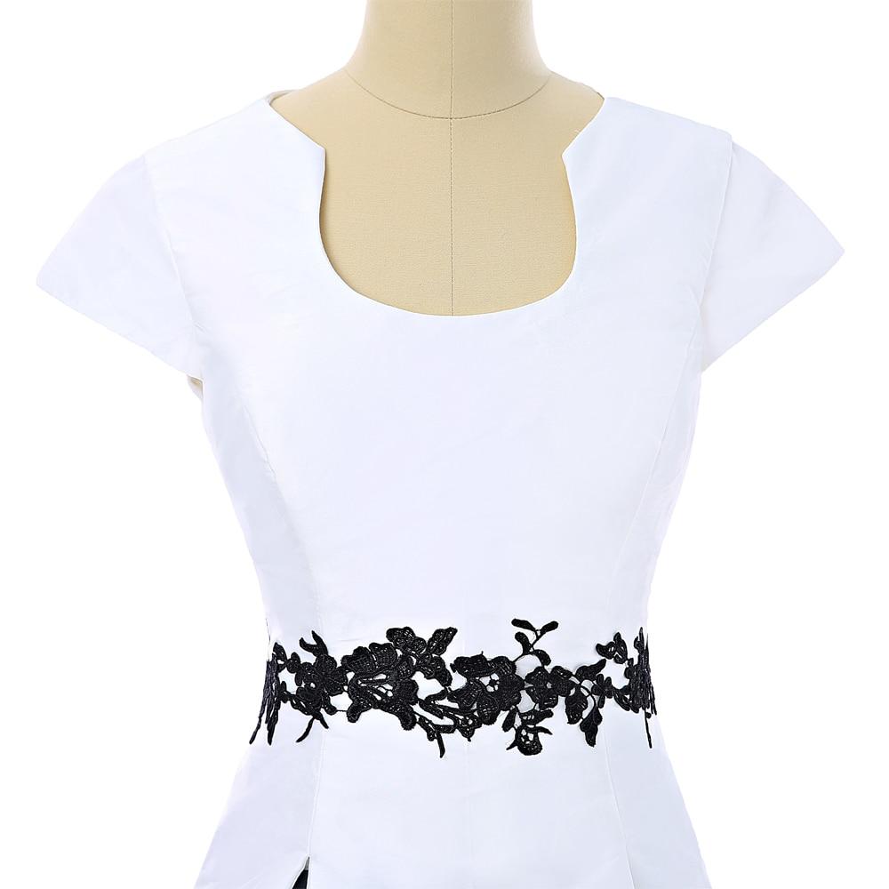 2019 Mor av brudklänningar A-line Scoop Cap Sleeves Appliques Lång - Bröllopsfestklänningar - Foto 5