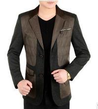 men jacket spring jacket men Spring new men s business suit long sleeved jacket Free Shipping