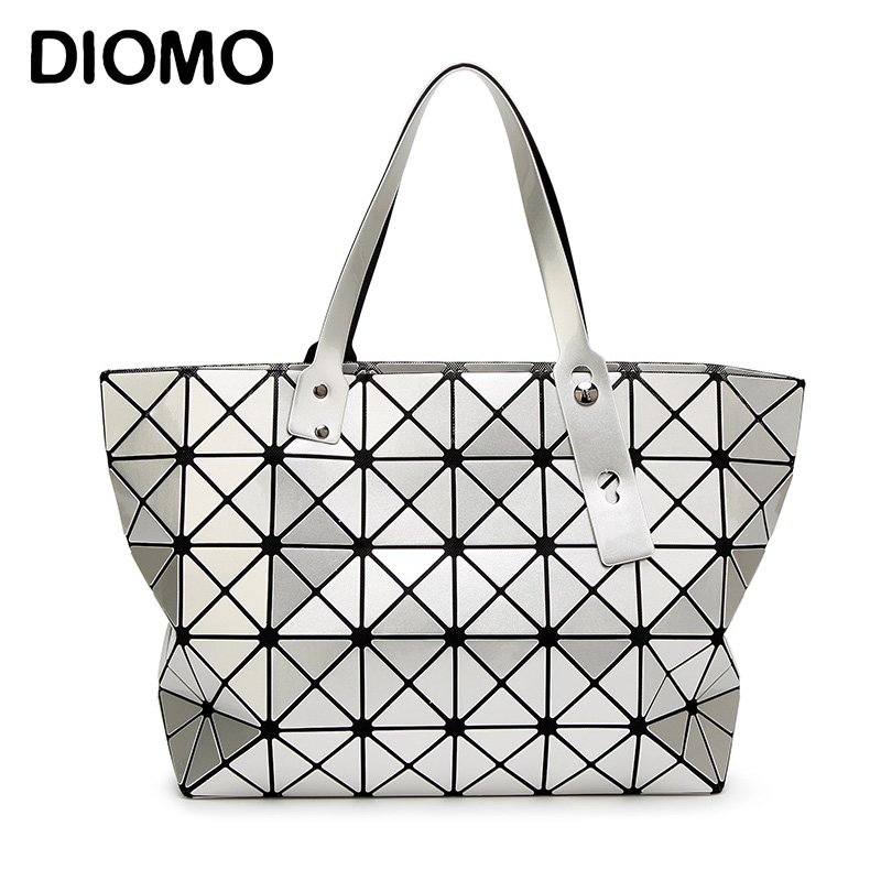 DIOMO Top-handle bag tote 2017 bag handbag fashion handbags geometric plaid women's shoulder big bag female sac a main femme baobao bag women folded geometric plaid bag bao bao fashion casual tote women handbag mochila shoulder bag top handle sac a main