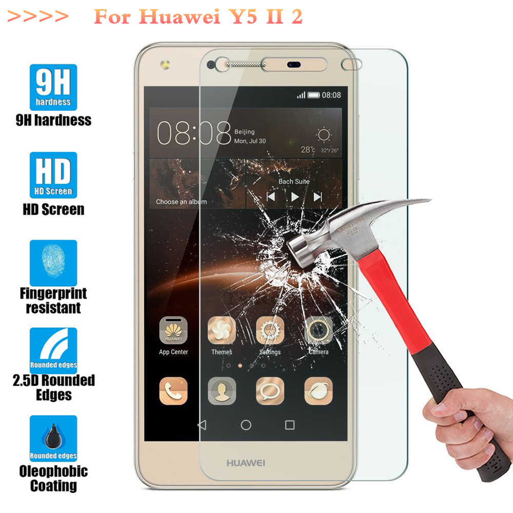 Screen Protector Film 0.3mm 9H 25D Front Premium Tempered Glass For Huawei Y5 ii Case Y5II 2 Honor 5A CUN L21 U29 L01 5.0""