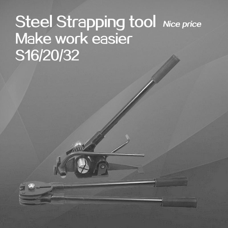 Manual steel strapping tool, hand strapping machine, steel belt banding tool, hand held strapper machine, heavy duty, 32mm