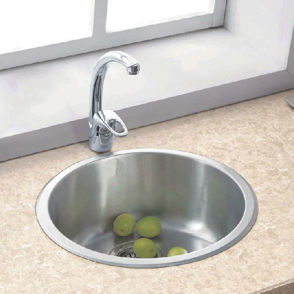 Circle Sink One Piece 304 Thickening Stainless Steel Kitchen Sink