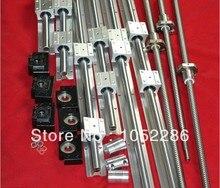 3 компл. шариковый винт RM2005-L1550/950/350 мм + 3 шт. муфта + 3 компл. BK15/BF15 конец поддержки + 6 компл. SBR20-L1500/1000/500 мм линейной направляющей