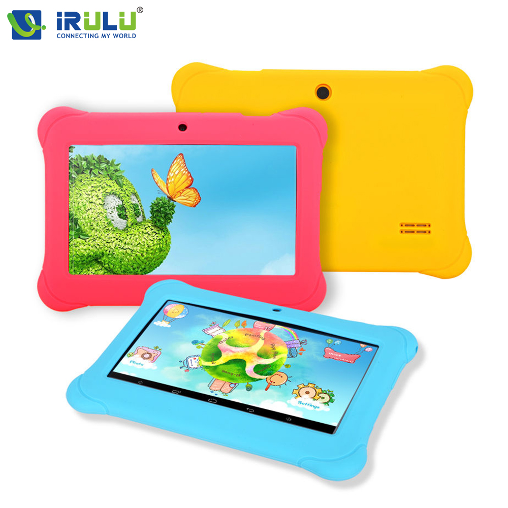 iRULU eXpro Y1 7 Tablet for Children 1024*600 HD Android 4.4 Quad Core Tablet PC 1G RAM 8GB ROM Dual Camera Wifi Tablet irulu expro tablet x1 7 1024 600 hd allwinner a33 1 5ghz quad core dual camera android 4 4 8gb rom w russian keyboard case