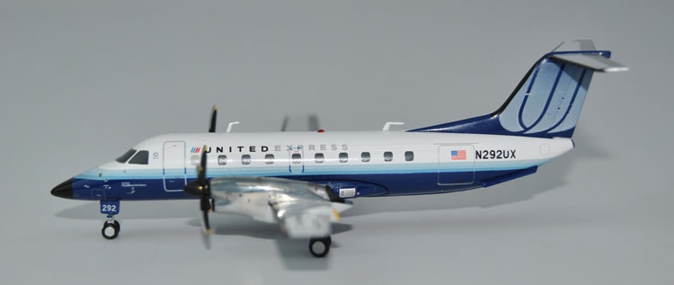 new Ge iniJets 1: 200 G2UAL604 United Airlines Express EMB-120 N292UX Alloy aircraft model Collection model Holiday gifts bbox200 1 200 american frontier airlines boeing 737 200 aircraft model n1pc alloy collection model