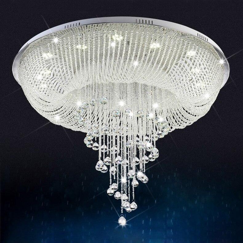 Top sale modern crystal chandelier for ceiling living room bedroom led lustres de cristal lamp - Chandelier for sale ...