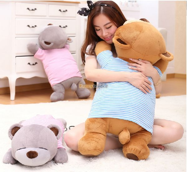Fancytrader 31'' / 80cm Lovely Stuffed Soft Big Plush Lying Sleeping Teddy Bear Toy, 3 Colors Available, Free Shipping FT50878