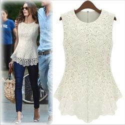 2017 summer brand new casual fashion vintage o neck sleeveless women long crochet lace chiffion blouse.jpg 250x250