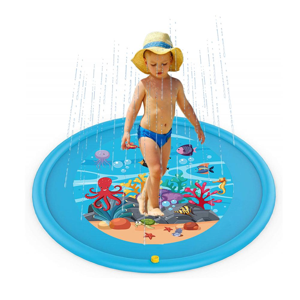 Baby Swimming Pool Wading Squirt Fun Pool Play Mat Outdoor Squirt Splash Water Mat For Toddlers Water Pad Kids Inflatable Toys