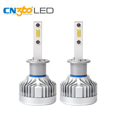 CN360 из 2 предметов H1 светодиодный фар 12 В 6000 К светодиодный авто лампы фар 60 Вт 10000 люмен супер яркий Лампа гражданин фишек Plug & Play