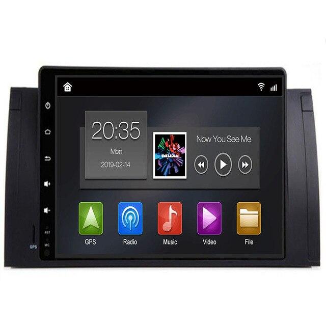 """9 """"Автомобильный мультимедийный плеер Android 9,0 gps стерео Системы для BMW/E39/X5/E53 3g 4G, Wi-Fi, FM AM компактное минирадио без dvd помощи при парковке с can-bus"""