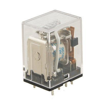 Подробнее о JQX-13F LY2 DC 12V Coil 2NO 2NC General Purpose Power Relay DPDT 8 Pin free shipping dc 24v coil electromagnetic relay 8 pins dpdt 2 no 2 nc jtx 2c