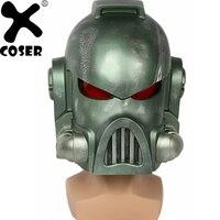 XCOSER Warhammer 40 К пространство морской шлем игры косплэй реквизит прохладный зеленый полная голова уход за кожей лица шлемы костюмы с масками ин