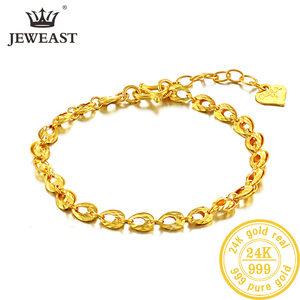 Image 1 - YSF 24K Pure Gold Bracelet Real 999 Solid Gold Bangle Upscale Beautiful  Romantic Trendy Classic Jewelry Hot Sell New 2020