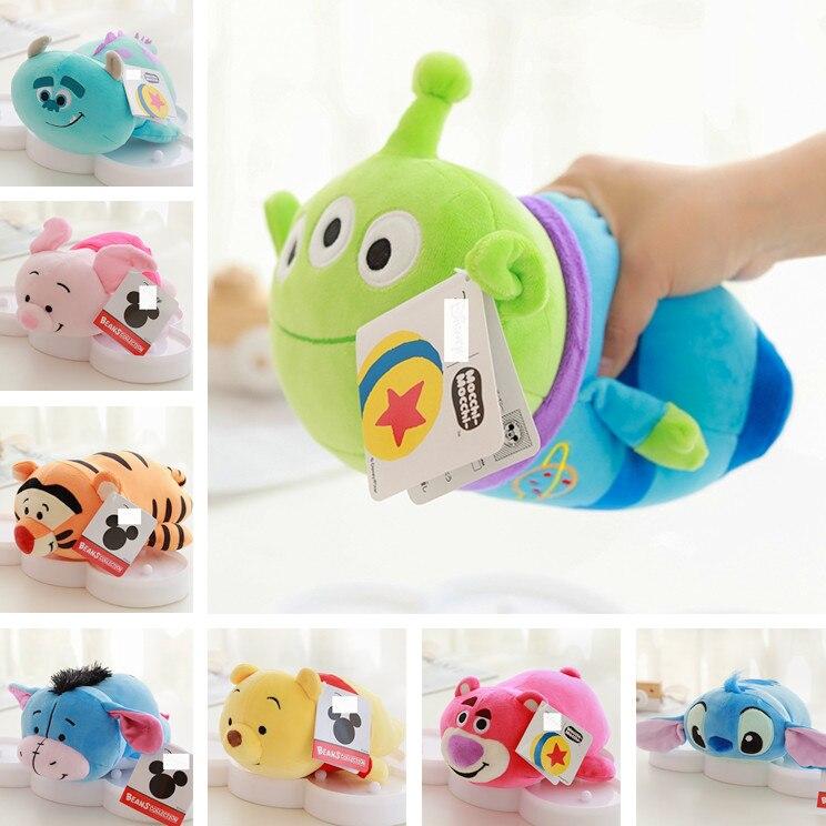 1pc Cute Lying Stitch Sully Piglet Duck Bear Plush Toy Stuffed Animals Toys 25cm