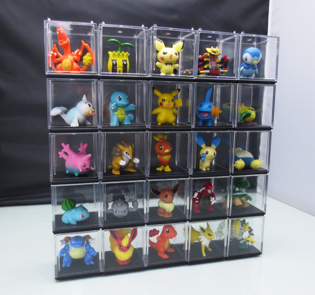Gentil Acrylic Abs Hand Done Animation Model Translucidus Toy Accessories Display  Box Cabinet Patchwork 5 5