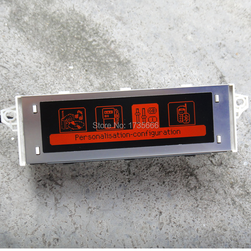 Red Screen support USB Bluetooth Display red monitor 12 pinDisplay for Peugeot 307 207 408 citroen