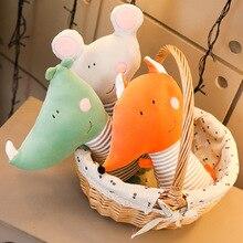 New 1pc 35/70cm Cute Mouse Rhinoceros Plush Toy Stuffed Soft Animal Fox Pillow Christmas Gift for Kids Kawaii Valentine Present стоимость