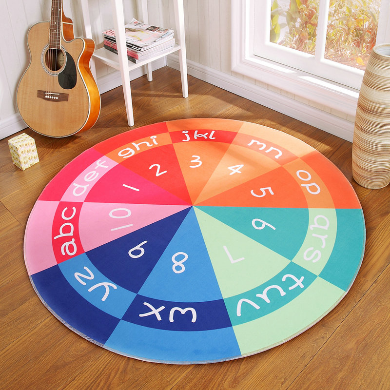 Retro England Round Carpets For Living Room Home Bedroom Rugs And Carpets Computer Chair Floor Mat Cloakroom Area Rug Kids Room