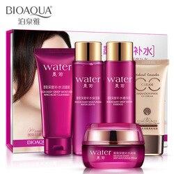 5Pcs/Set BIOAQUA Brand Makeup Skin care Products Set Moisturizing Hydrating Nourishing Oil Control Anti acne Lotion cosmetics