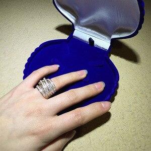 Image 5 - Hoge Kwaliteit Luxe Sieraden Sets Oorbellen Ring Sets Shiny Aaa Zirconia Gouden Kleur Noble Charm Vrouwen Accessoires Bijoux