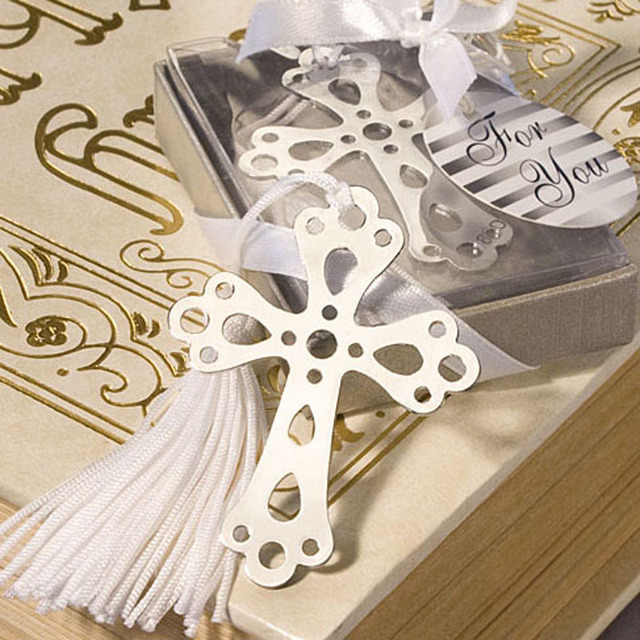 100pcs lot cross bookmarks for baptism birthday first communion