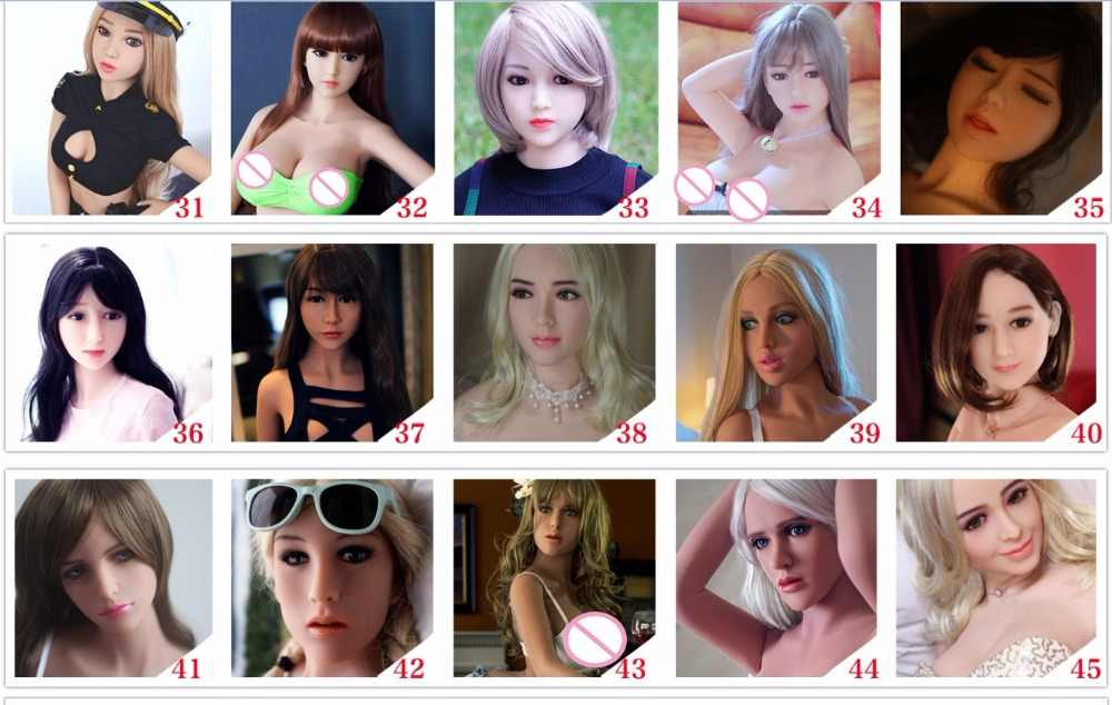 golden hair closed eyes TPE sex doll head oral sex can use on 125cm, 135cm 140cm doll for men oral sex