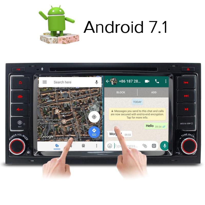 A-Sure Android 7.1 Quad Core Autoradio DVD GPS Per Volkswagen VW Transporter Multivan T5 con 4G GPS DAB + RDS BT WIFI specchio