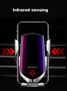 Image 4 - 10W R1 Automatic Clamping Car Wireless Charger For iPhone Huawei xiaomi Infrared Induction Qi Wireless Charger Car Phone Holder