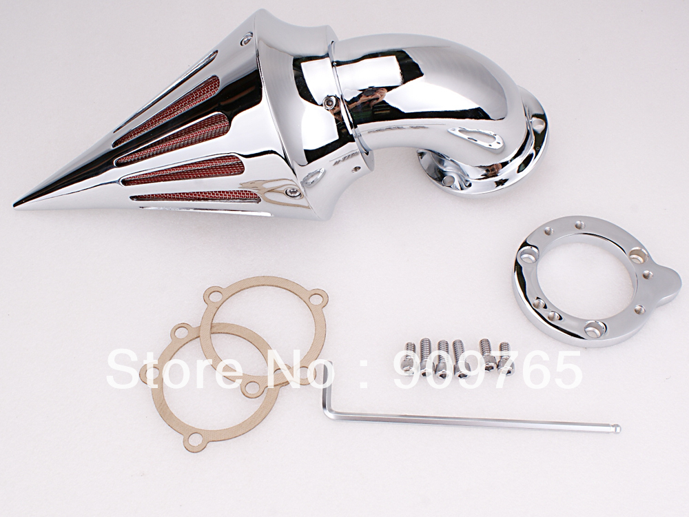 Motorcycle Chrome Spike Air Cleaner Intake Filter For Harley S&S Carburetor цена