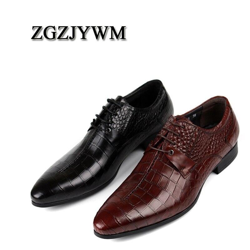 be7c9278a4 Oxford Vino Negocio Cuero Zapatos Toe Vestido Boda Encaje Rojo Genuino Del  Zgzjywm De red negro ...