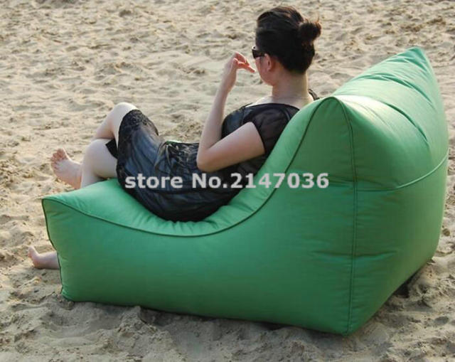 LARGE Space And Wide Waterproof Outdoor Bean Bag Chair With High Back  Support, Backing Portable