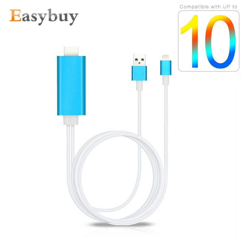 1080P 8 Pin to HDMI Converter Adapter MHL To HDMI Cable HDTV Adapter for Lightning USB